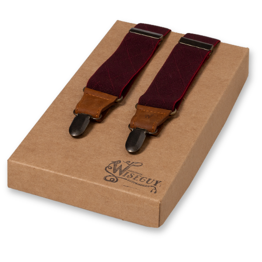 Wiseguy Suspenders - Bordeaux (1)