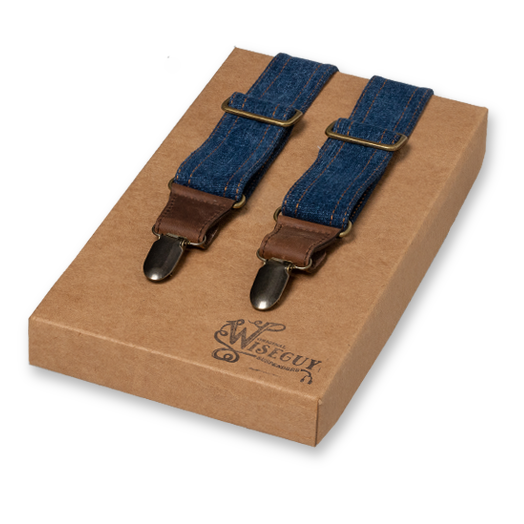 Wiseguy Suspenders - Salvaged Denim Flex (1)