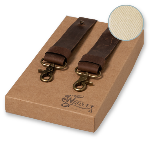 Wiseguy Suspenders - Crazy Horse Flex Sand Dark Brown Wide (1)